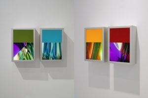 light and colour, 4 aluminium light boxes and slide, gallery bernd a. lausberg, toronto, 2008