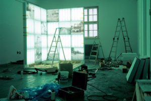 clean shining pure (construcion view), 33 light boxes, 1999