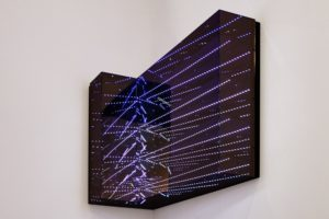 angle view, led's computergesteuert metall plexiglas spiegel, 2015