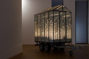 almost, metal mirror plexiglas trailer led, osthaus museum, hagen, 2013