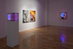 tube (150x40x40cm) + cliffs + tunnel view 'down under', light sensitive, de buck galerie, new york, 2011