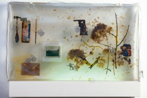 landscape in plastic, block of resin, gallery hofmeisterhaus, germany, 2000