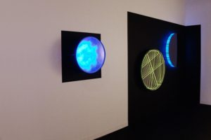 interference, plexiglas polished stainless steel mirror slide led colour change, design miami basel, 2012