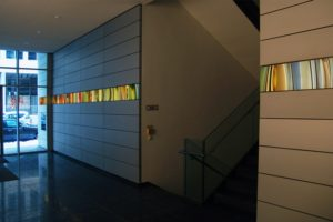 light and colour, laserchrome grossdiapositiv metall glas, deka immobilien investment frankfurt, leomax münchen, 2003