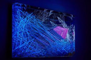 fractal, metall spiegel plexiglas led licht dmx-steuerung, samuelis baumgarte galerie, bielefeld, 2016