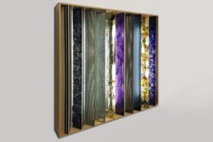 diary notes, plexiglas resin metal silicon oil perforated metal wood, 1999