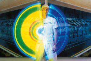 hans kotter, licht in bewegung, leuchtstoffröhre (langzeitbelichtung), 2001
