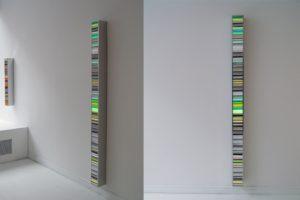 colour code, edelstahl poliert und diapositiv, galerie bernd a. lausberg, toronto, 2008