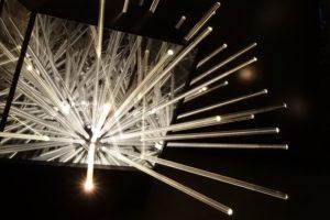 big bang....interruption, metall holz spiegel plexiglas led, galerie michaela stock, wien, 2013
