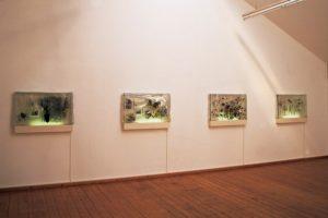 landscape in plastic, 4 harzblöcke, galerie hofmeisterhaus, 2000