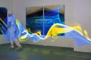 licht in bewegung, leuchtstoffröhre (langzeitbelichtung), 2001