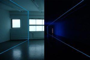 balance, leuchtfolie und inverter, kunstverein ravensburg, 2004