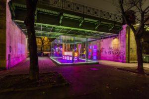 replaced light flow, kubus export - der transparente raum, vienna art week, kuratiert michaela stock, wien, 2013