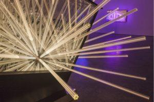 big bang....interruption, metall holz spiegel plexiglas led, de buck gallery, new york, 2014
