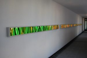 light and colour, aluminium-leuchtkästen laserchrome grossdiapositiv, objekt am burghauser-tor, neuötting, 2003