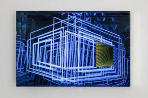 windows, metall spiegel plexiglas led farbwechsel, de buck galerie, new york, 2014