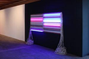 mehr licht, replaced, leuchtstoffröhren kontaktunterbrecher wandfarbe, europäisches künstlerhaus oberbayern, 2013