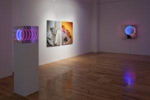 tube (150x40x40cm) + cliffs + tunnel view 'down under', light sensitive, de buck galerie, new york, 2011