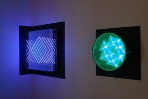 interference + tunnel view 'diamond', plexiglas spiegel led farbwechsel, design miami basel, 2012