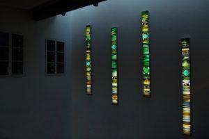 light and colour, 4 aluminium-leuchtkästen laserchrome grossdiapositiv, staatliches hochbauamt rosenheim, vermessungsamt, 2003