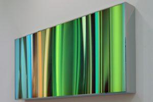 lines, leuchtkasten edelstahl poliert led-licht farbwechsel, warburg pincus, frankfurt a. main, 2010