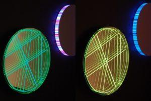 interference, plexiglas edelstahl poliert spiegel dia led farbwechsel, design miami basel, 2012