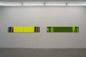 chromatic plants (yellow | green), aluminium-dibond mit diasec face, galerie bernd lausberg, düsseldorf, 2006