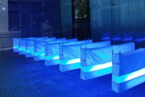 illuminations, 8 leuchtkästen aus folie und glasgranulat, aedes, berlin, 2004