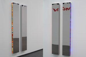 twins, chromleuchtkästen dia auf plexiglas und led-licht farbwechsel, art cologne, galerie klaus benden, 2010