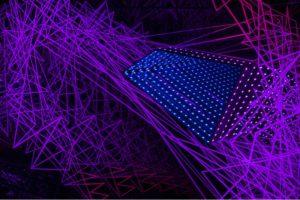 fractal, metall spiegel plexiglas led licht, bildrecht, wien, 2015