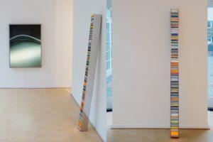 colour code, leuchtkasten edelstahl poliert und diapositiv, galerie klaus benden, köln, 2008
