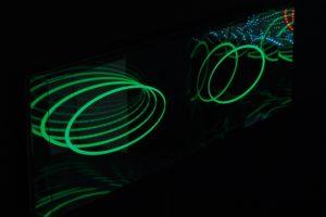 u-turn, plexiglas spiegel led-licht farbwechsel, art cologne, galerie klaus benden, 2012