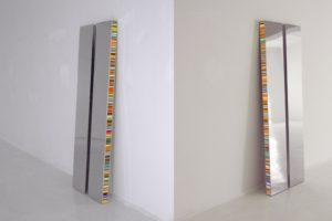 twins, chromleuchtkästen dia auf plexiglas und led-licht farbwechsel, borusan art collection, istanbul, 2012